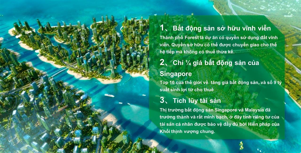 Những lợi thế gì khi mua Bất động sản Forest City Malaysia?