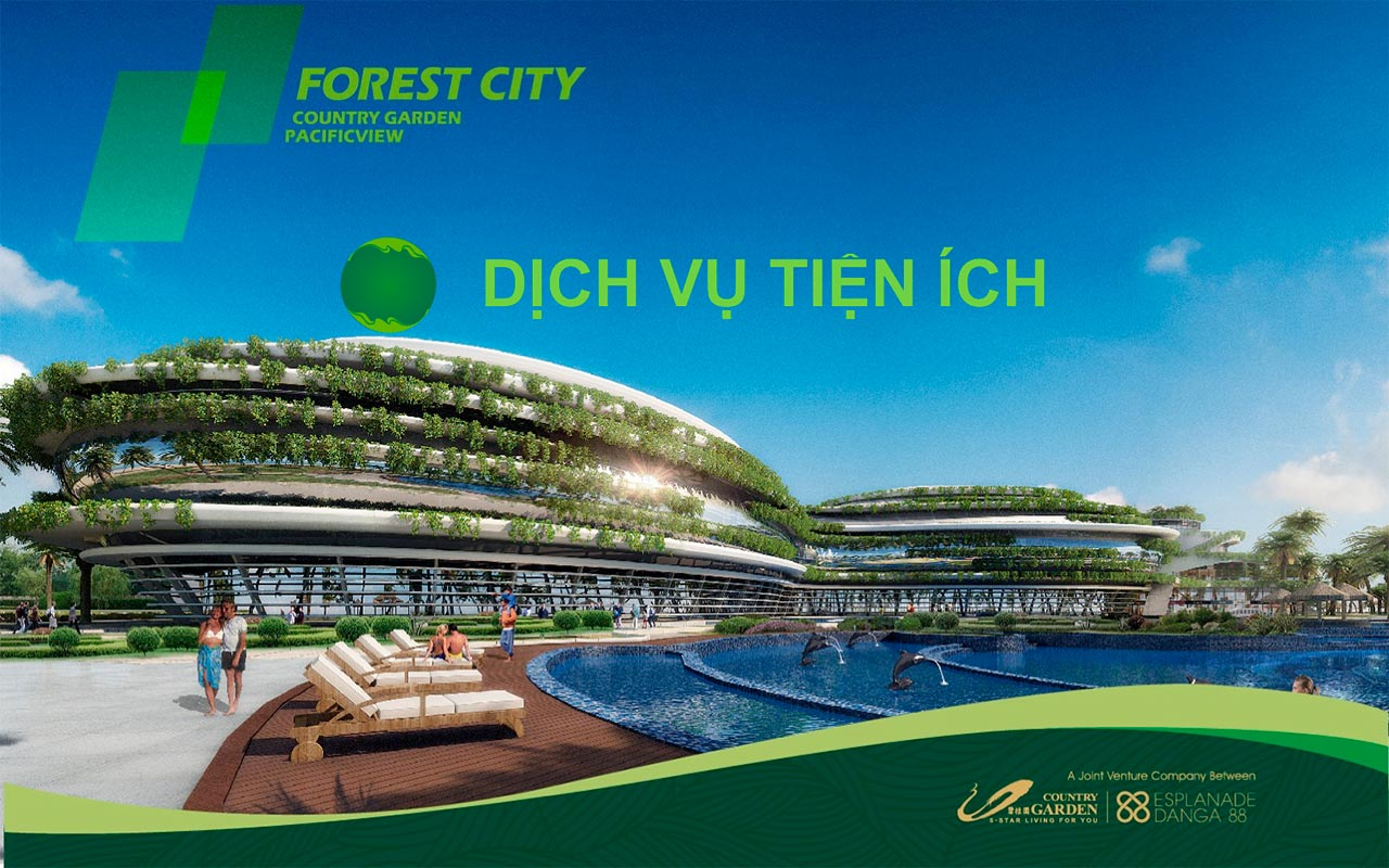 Trong dự án Forest City Malaysia có những dịch vụ tiện ích gì?