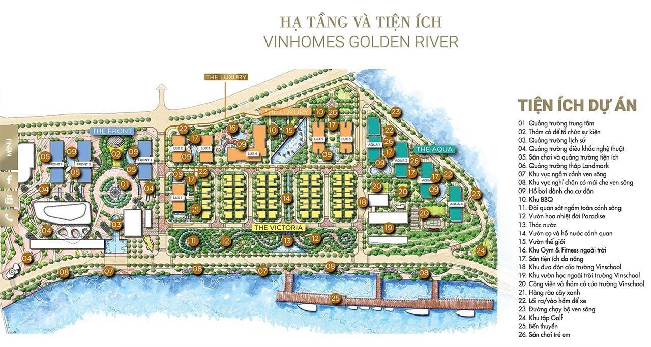 Hạ tầng và tiện ích dự án Vinhomes Golden River