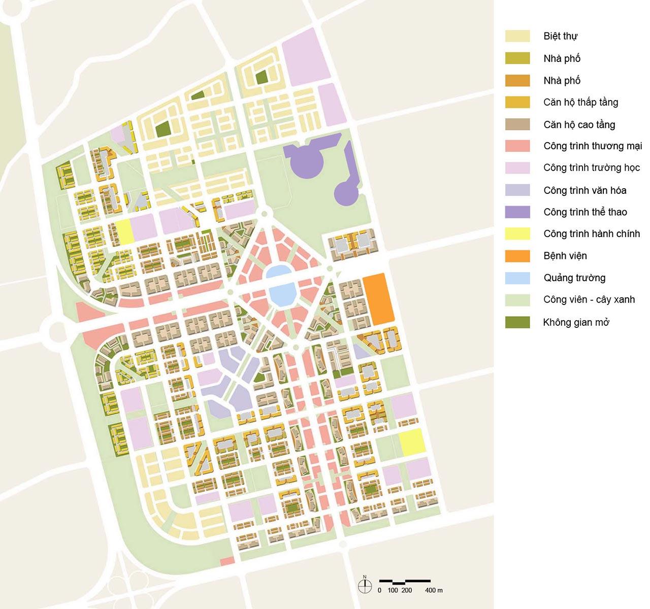 Phân khu chức năng của dự án Đông Saigon New City