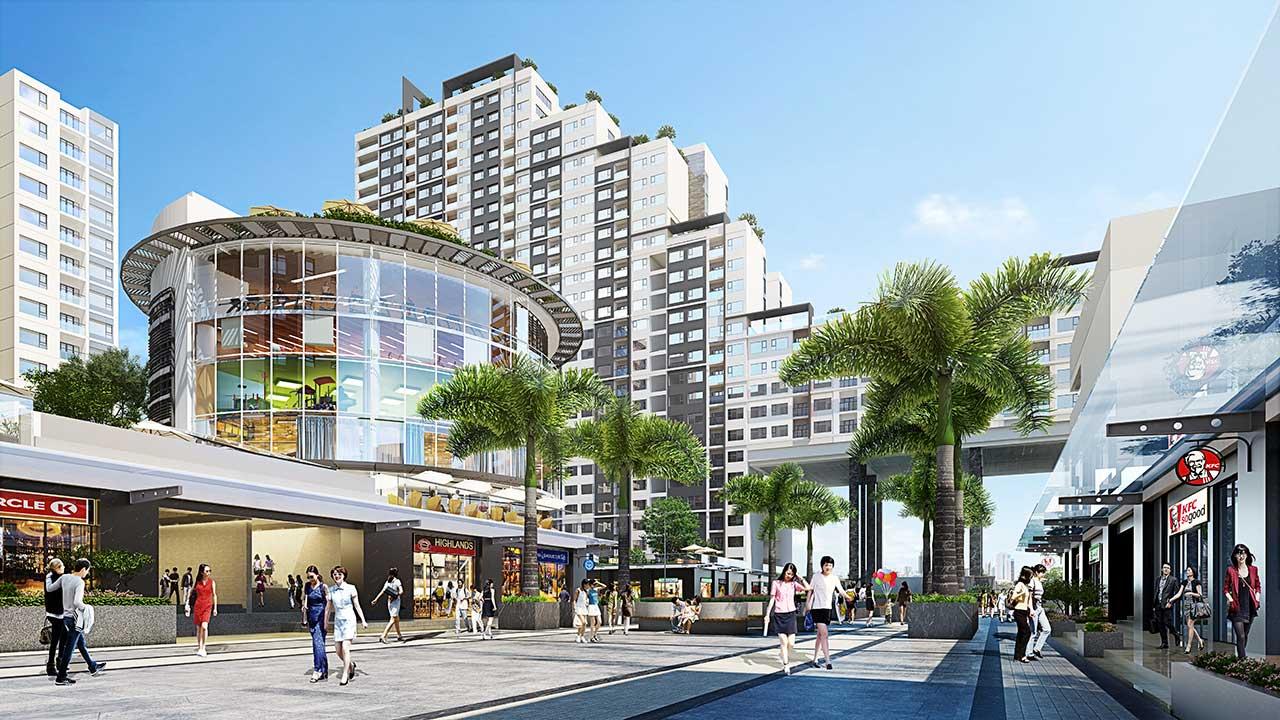 Trung tâm mua sắm giải trí ở New City Thủ Thiêm
