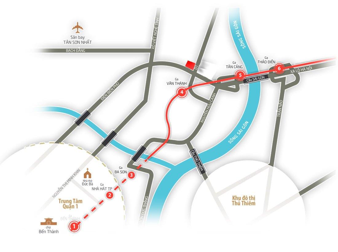 Vị trí dự án 152 Điện Biên Phủ