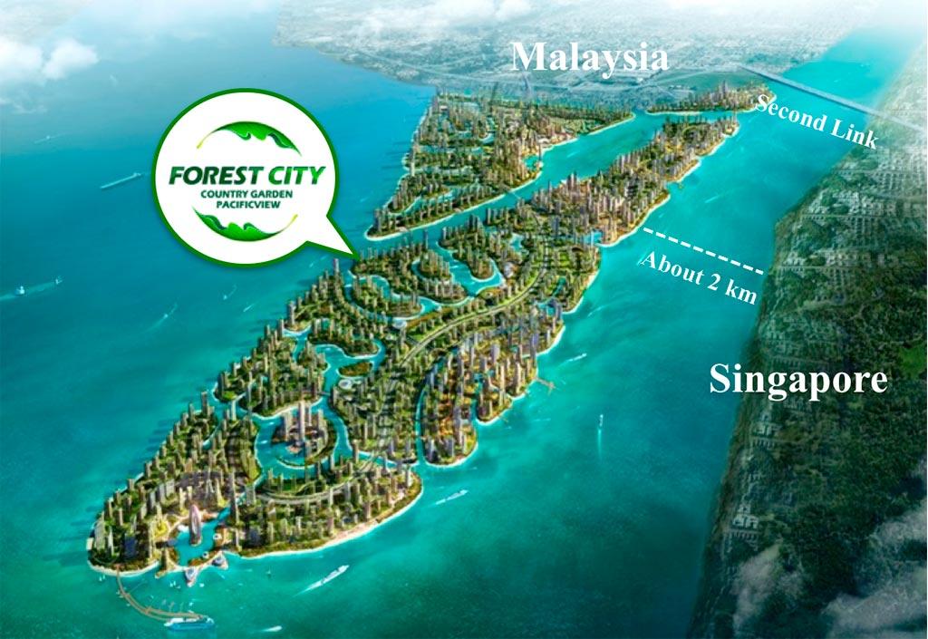 Địa chỉ dự án Forest City Malaysia nằm ở đâu