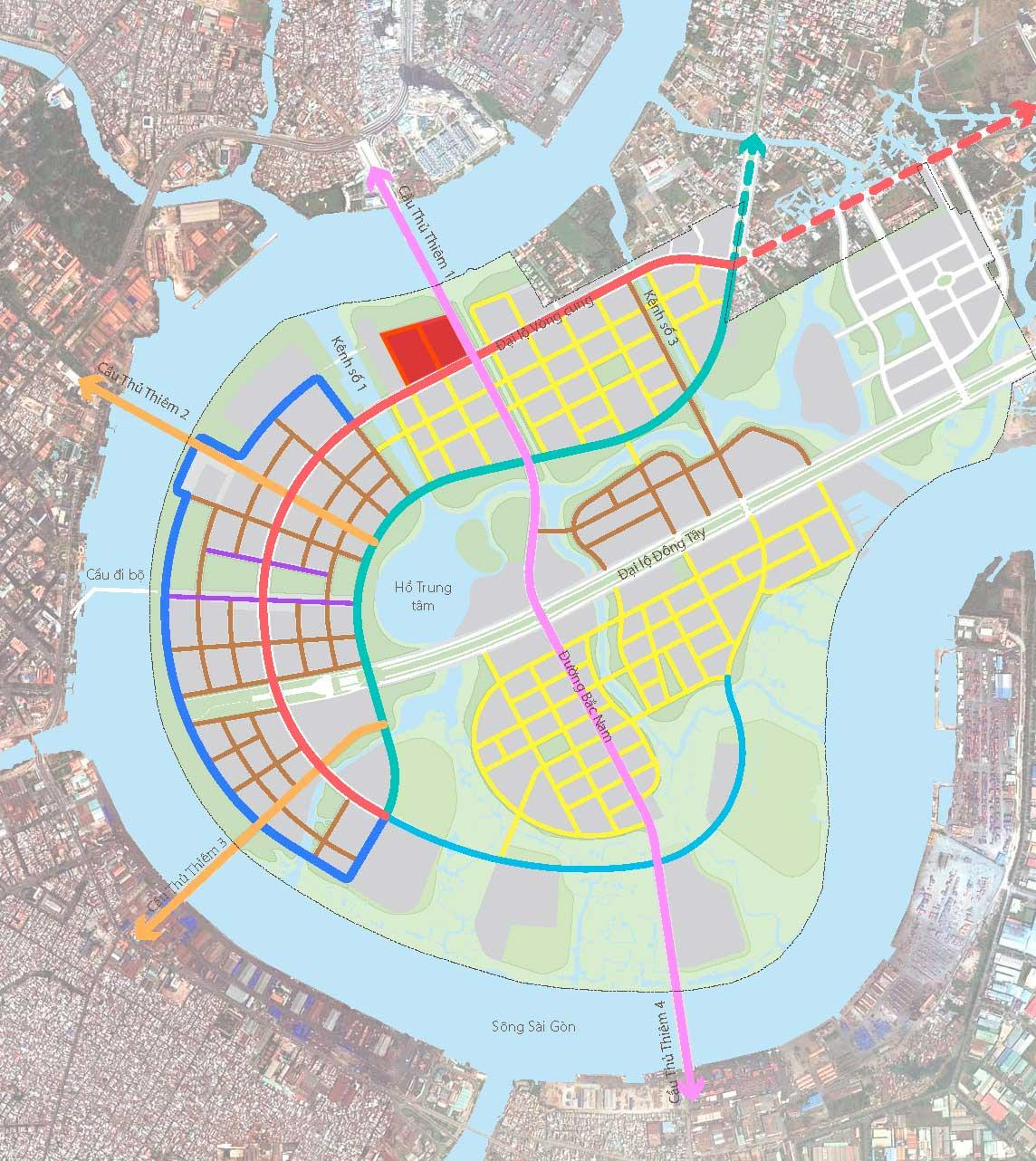 Vị trí dự án Thủ Thiêm River Park CII