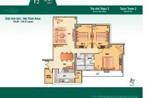 Cho thuê căn hộ Saigon Pearl 3 phòng ngủ giá rẻ