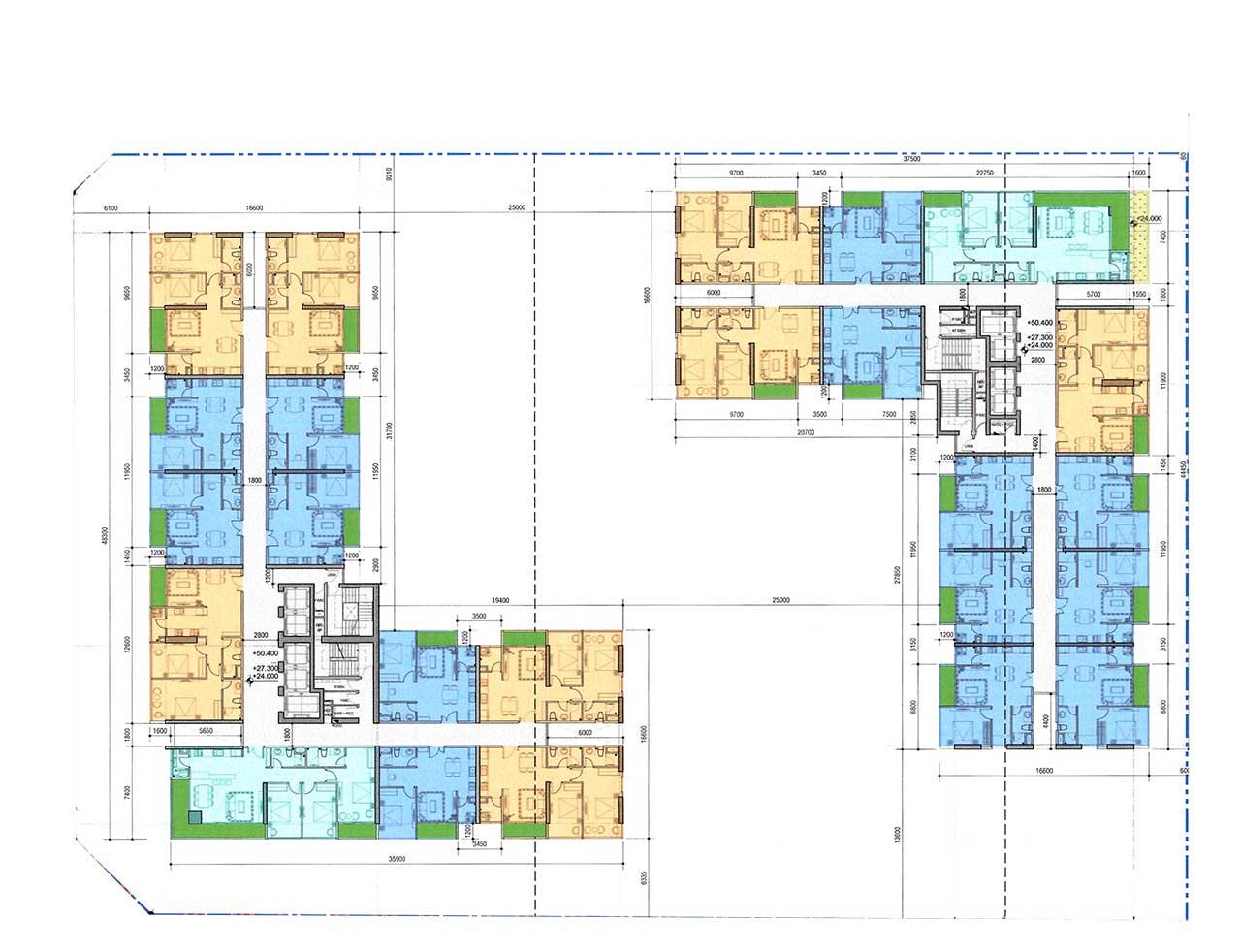Mặt bằng căn hộ Riverfront Residences tầng 6 đến tầng 11