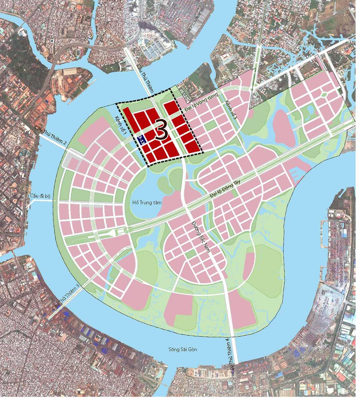 Vị trí dự án Riverfront Residences tại Thủ Thiêm