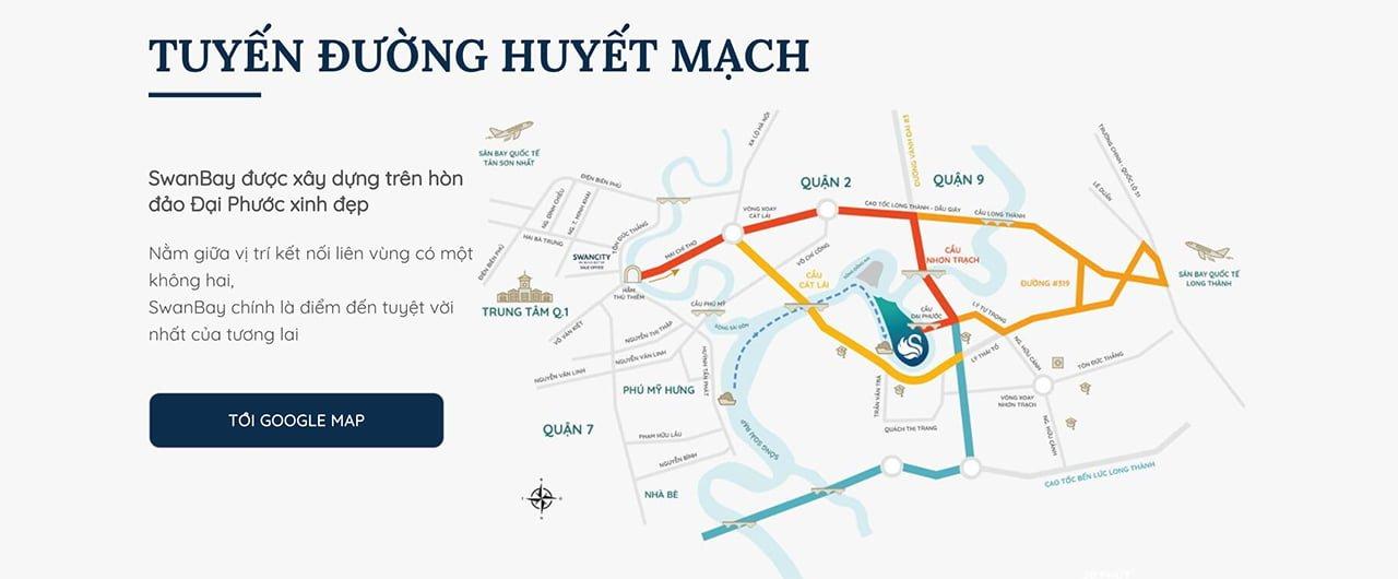 Vị trí dự án Swanbay City Đồng Nai