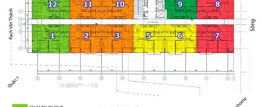 Bán căn hộ 152 Điện Biên Phủ 2 và 3 phòng ngủ