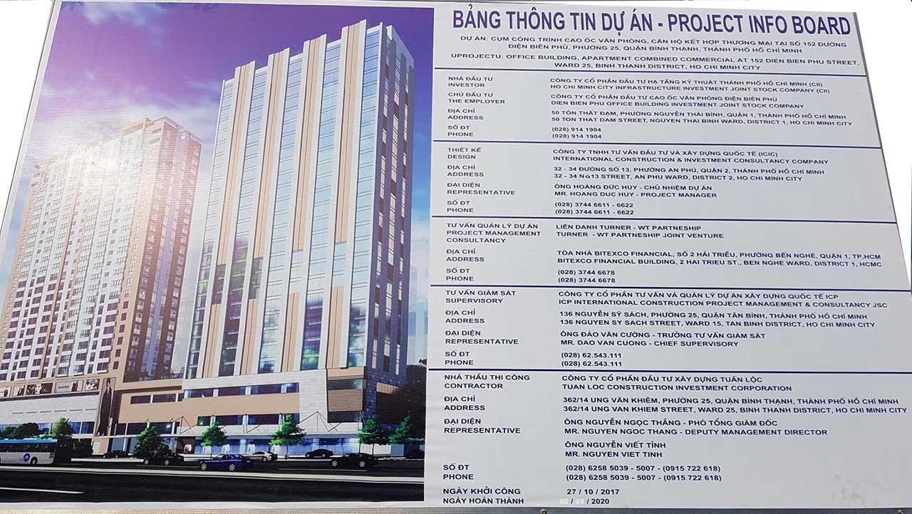 Bảng thông tin dự án 152 Điện Biên Phủ