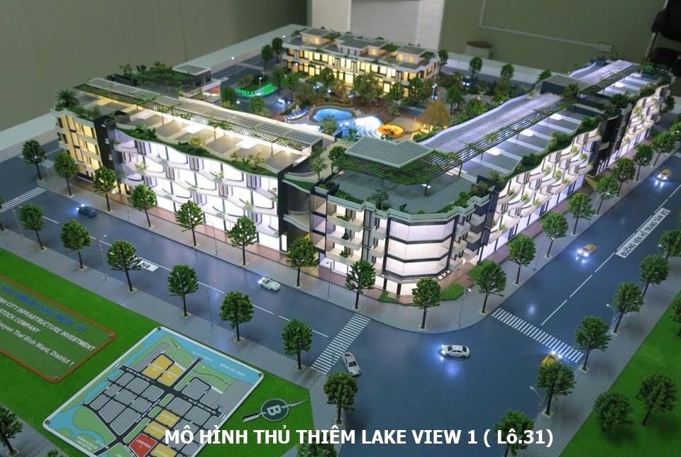 Mô hình Thủ Thiêm Lake View 1 lô 3.1