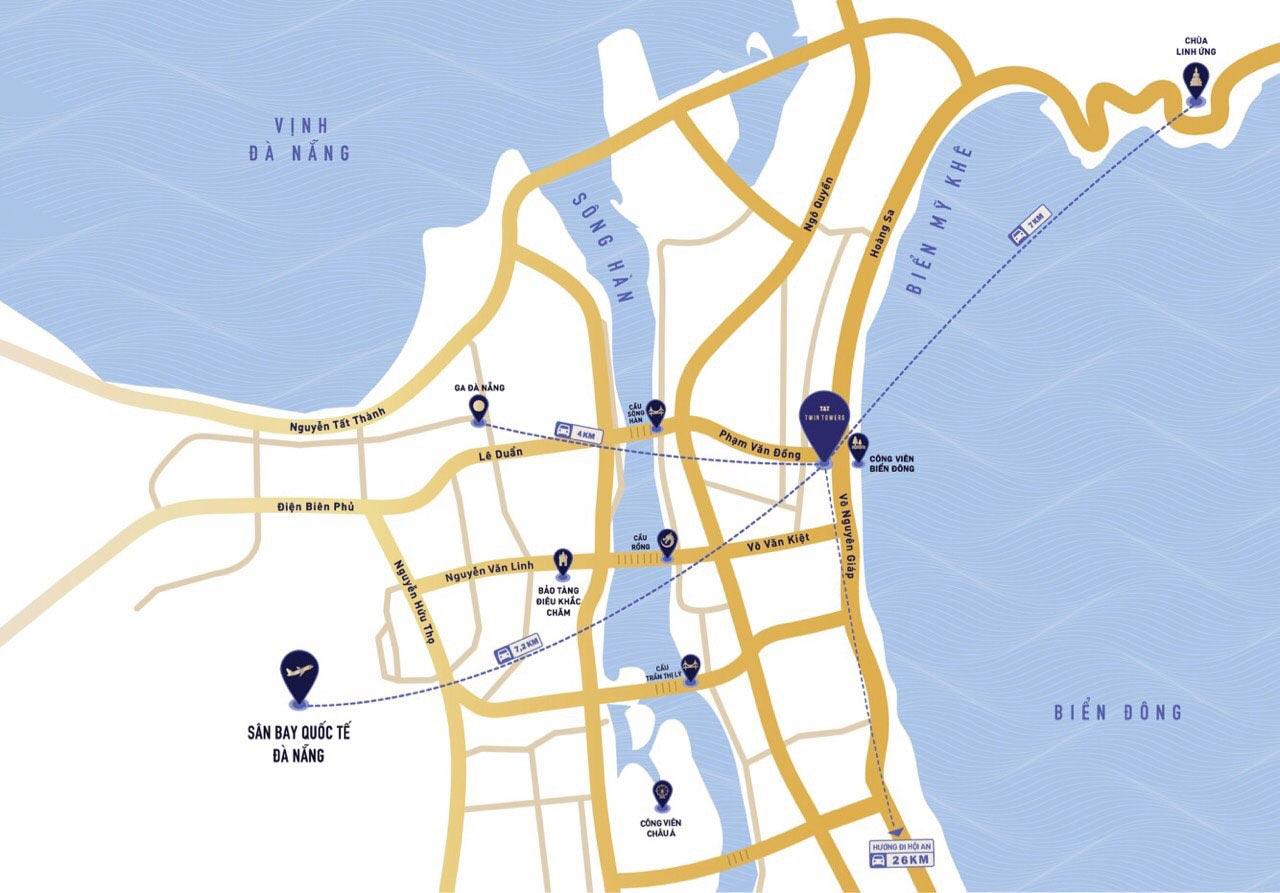 Vị trí dự án Twin Tower Đà Nẵng nằm ở đâu?