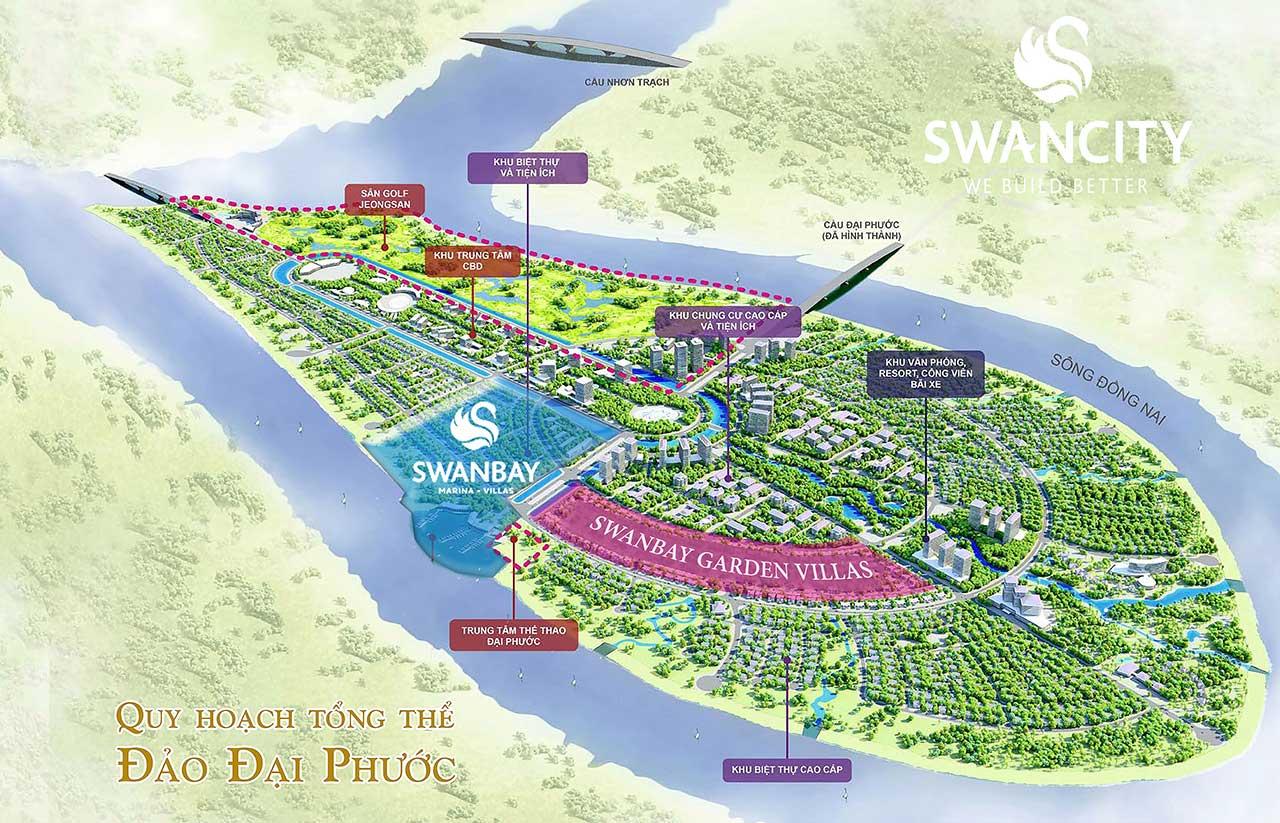 Quy hoạch tổng thể về dự án Swanbay Đảo Đại Phước