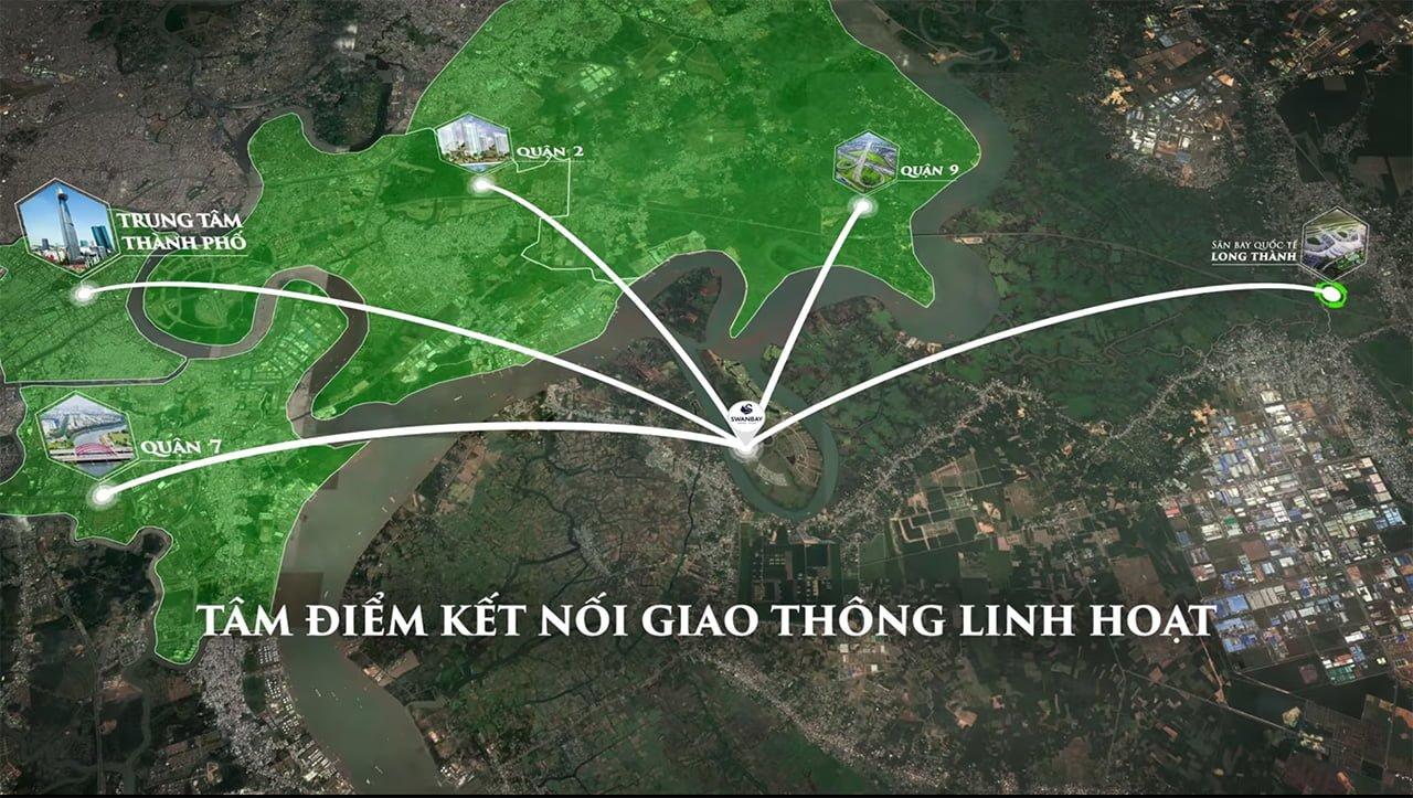 Vị trí Swanbay đảo Đại Phước Lotus nằm ở đâu?
