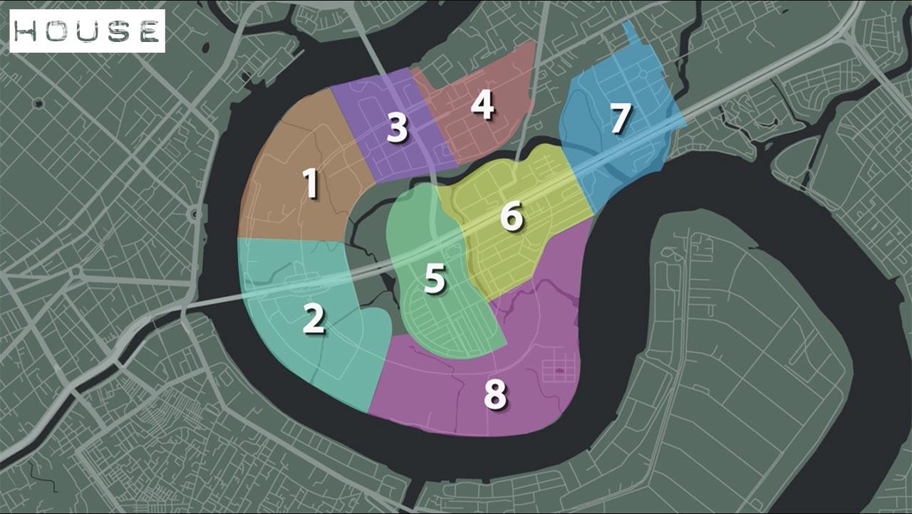 8 Khu chức năng của đô thị thủ thiêm
