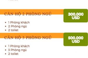 Bảng bán giá căn hộ GS Thủ Thiêm Quận 2