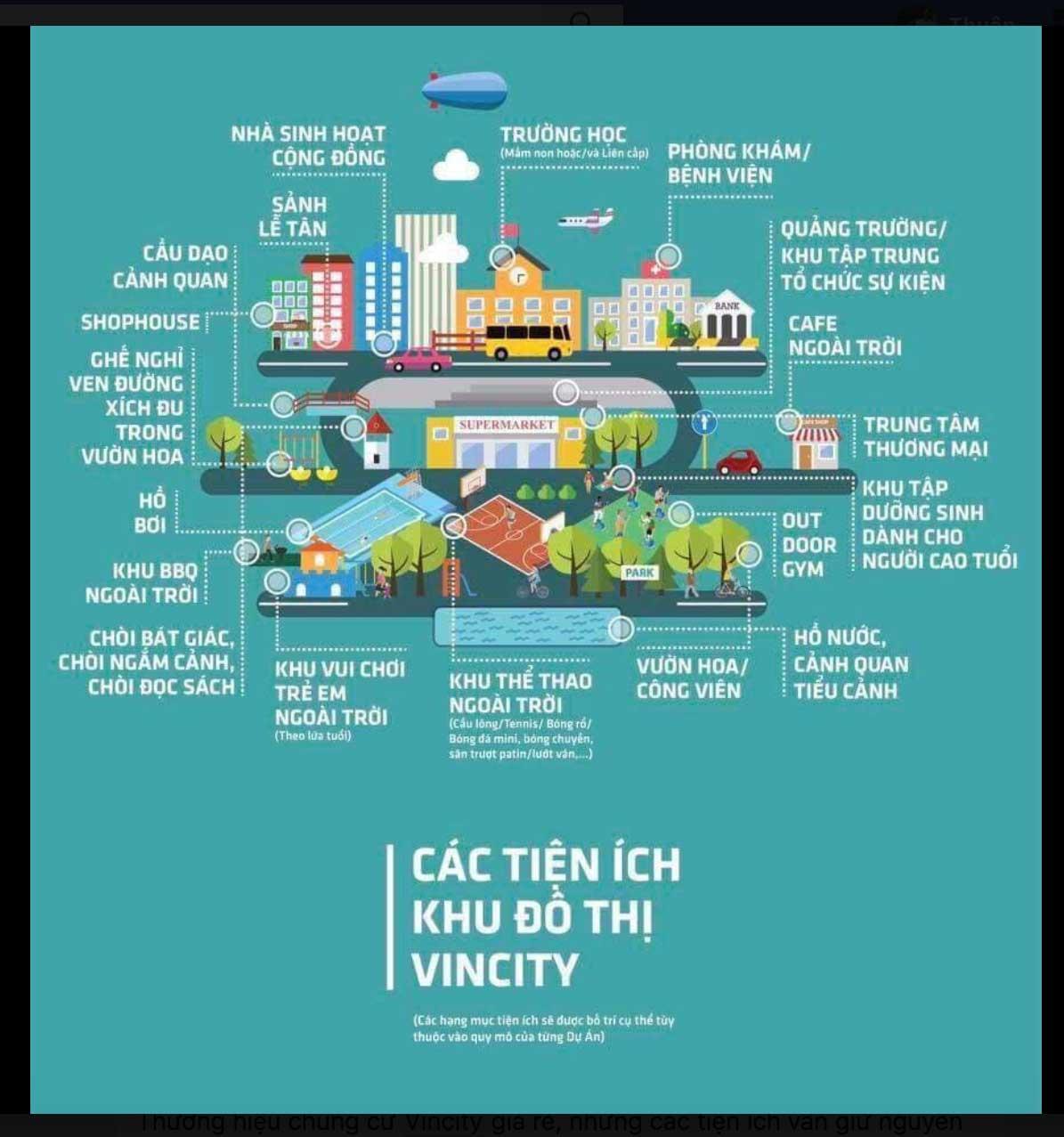 Các tiện ích khu đô thị Vincity Quận 9