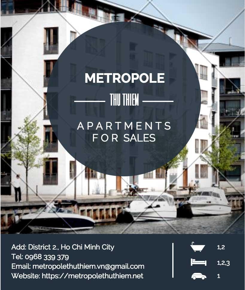 Bán căn hộ Metropole Thủ Thiêm giá gốc công ty