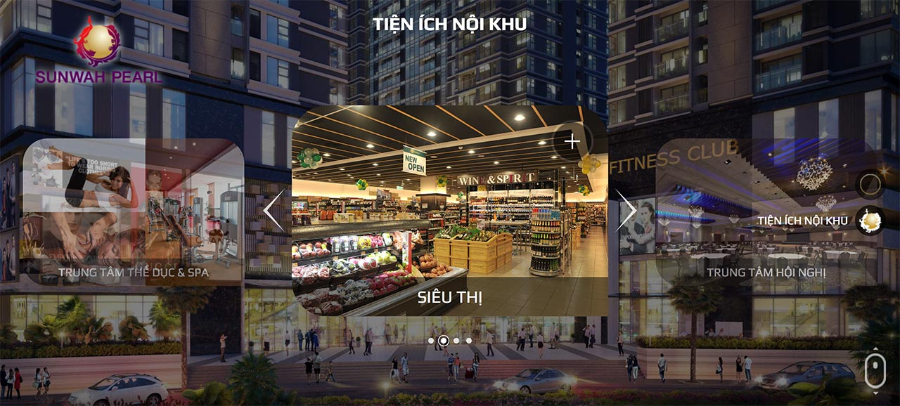 Tiện ích khu Shophouse Sunwah Pearl