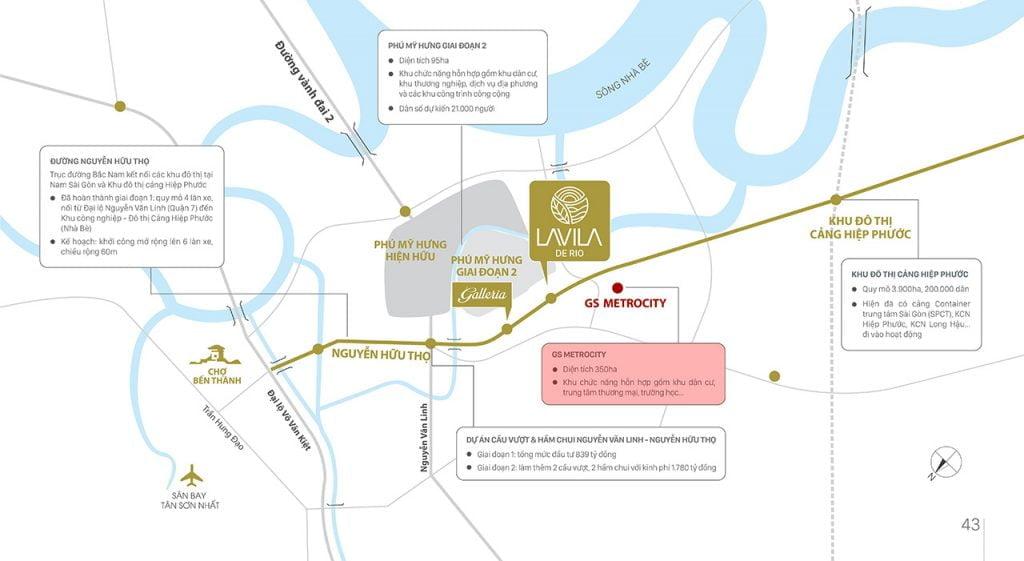 Vị trí khu đô thị GS Metrocity Nhà Bè có nằm gần khu đô thị Phú Mỹ Hưng hay không?