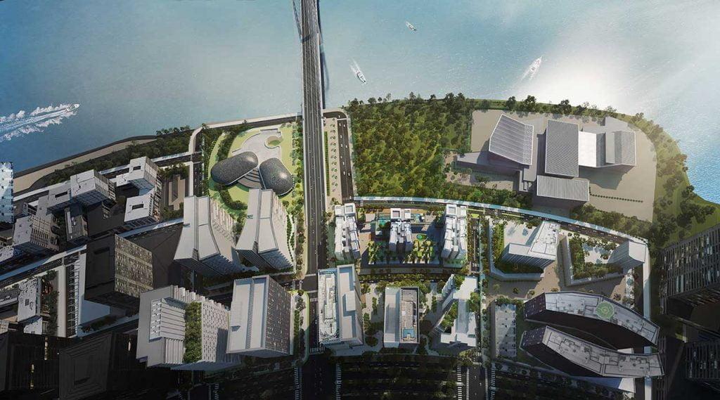 Phối cảnh dự án The Metropole Thủ Thiêm của Sonkim Land