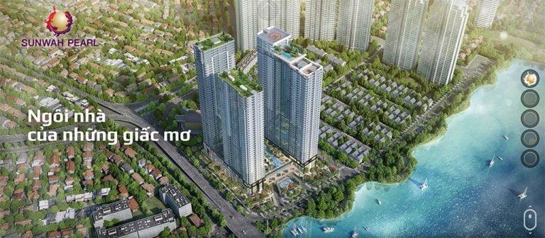 Cho thuê căn hộ Sunwah Pearl quận Bình Thạnh 123 phòng ngủ