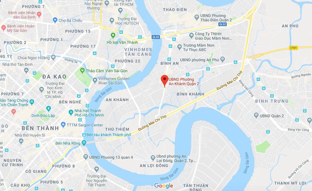 Vị trí dự án Paris Hoàng Kim nằm ở đâu?