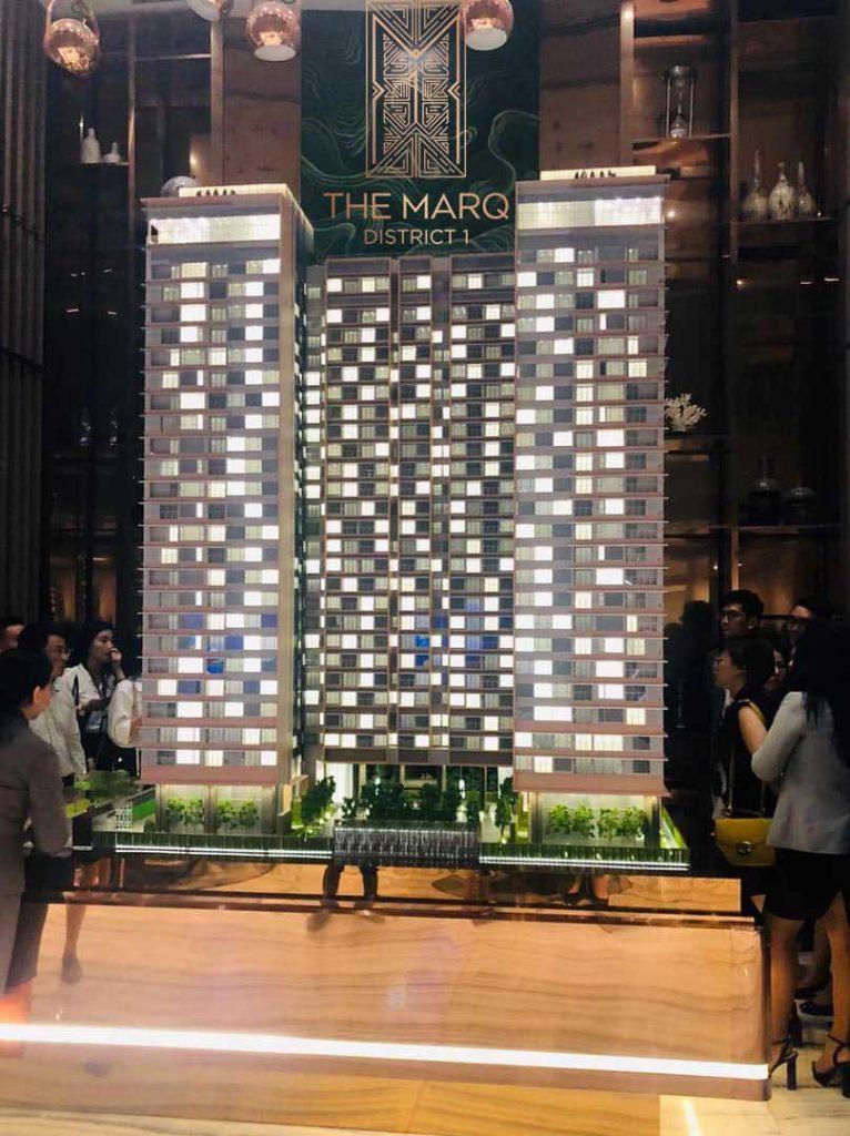 Nhà mẫu The Marq đặt tại Toà nhà Lim Tower 2