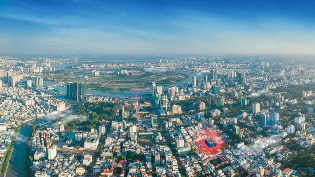 Vị trí căn hộ The Marq toạ lại tại mặt tiền Nguyễn Đình Chiểu