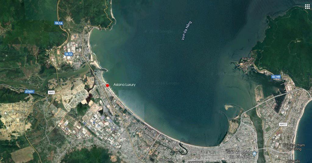 Vị trí căn hộ Asiana Luxury Đà Nẵng
