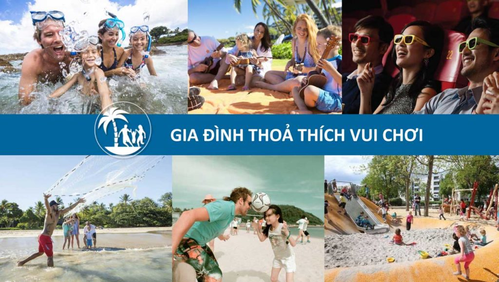 Ở Sim Island Phú Quốc gia đình thoả sức vui chơi