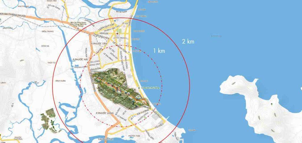 Vị trí dự án Piania Nha Trang
