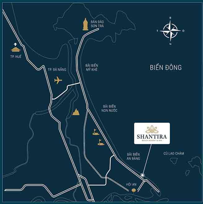 Vị trí dự án Shantira Hội An nằm ở đâu?