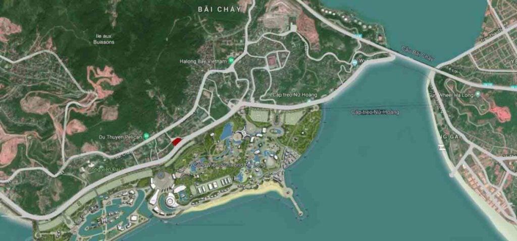 Vị trí dự án nằm ở thành phố Hạ Long