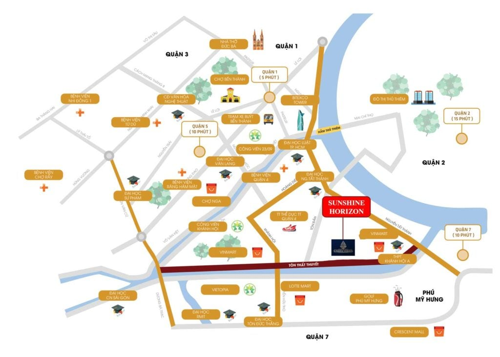 Vị trí dự án nằm ngay mặt tiền đường Tôn Thất Thuyết Quận 4