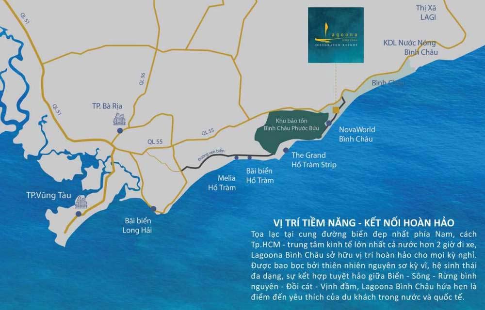 Vị trí dự án Lagoona Bình Châu