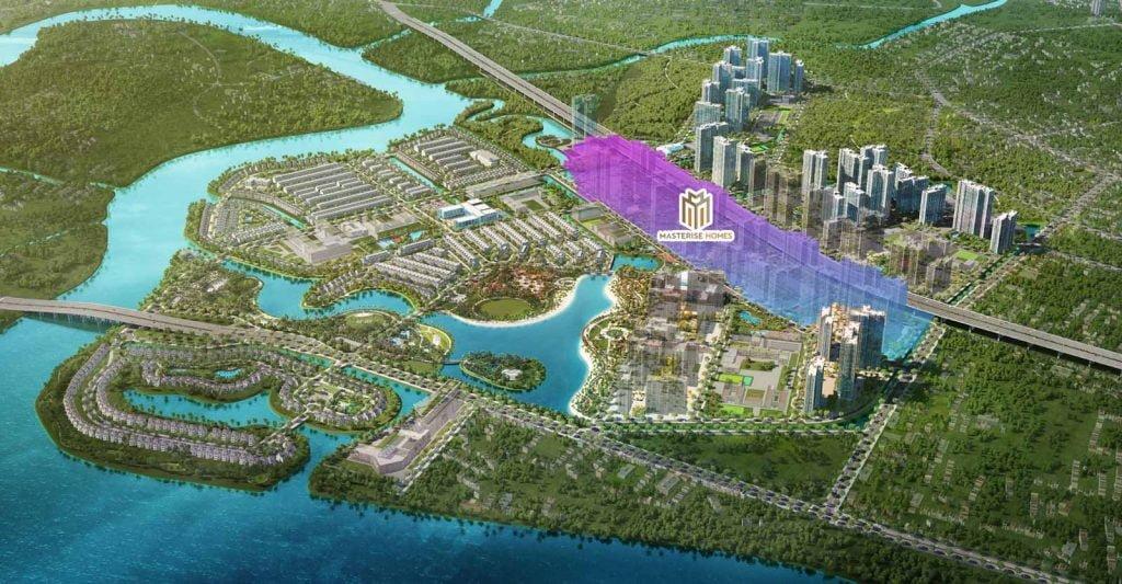 Phối cảnh dự án Masterise Homes Quận 9 nằm trong khu đô thị Vinhomes Grand Park