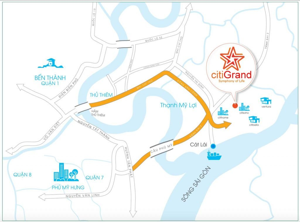 Bản đồ vị trí dự án Citi Grand