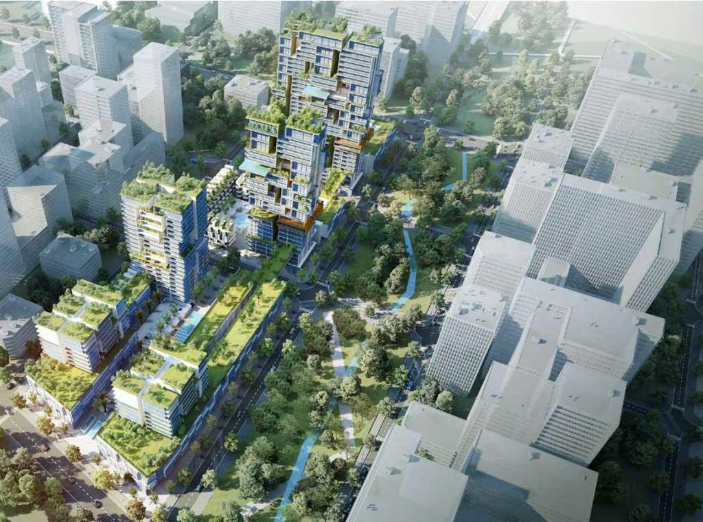 Hình phối cảnh dự án căn hộ phức hợp Thủ Thiêm Xi của GS E&C