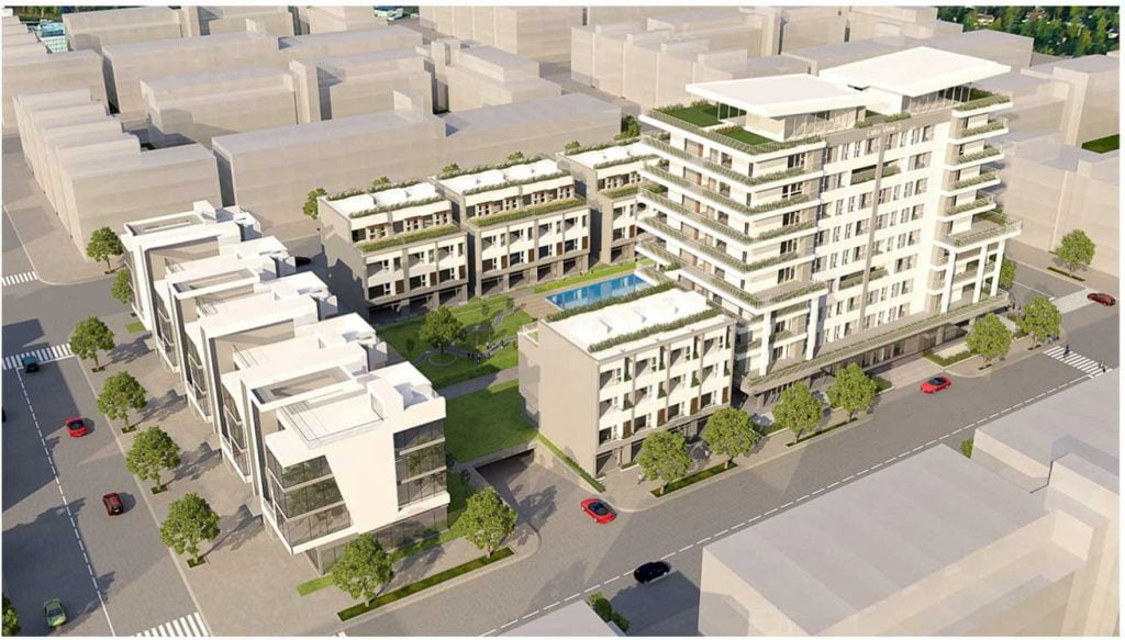 Hình phối cảnh dự án khu căn hộ và nhà phố D'verano Quận 2