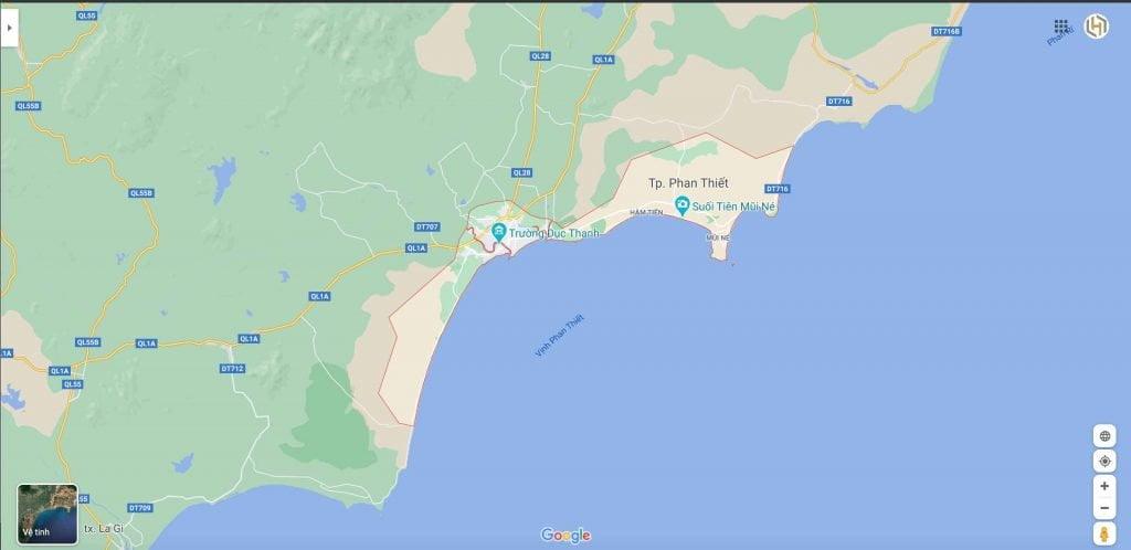 Bản đồ vị trí các dự án tại Phan Thiết