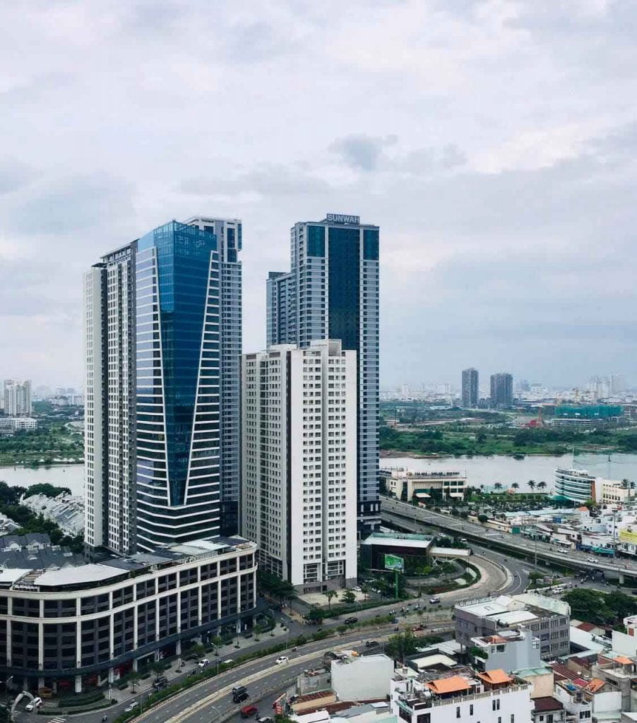 Hình ảnh thực tế cụm khu dân cư trên đường Nguyễn Hữu Cảnh