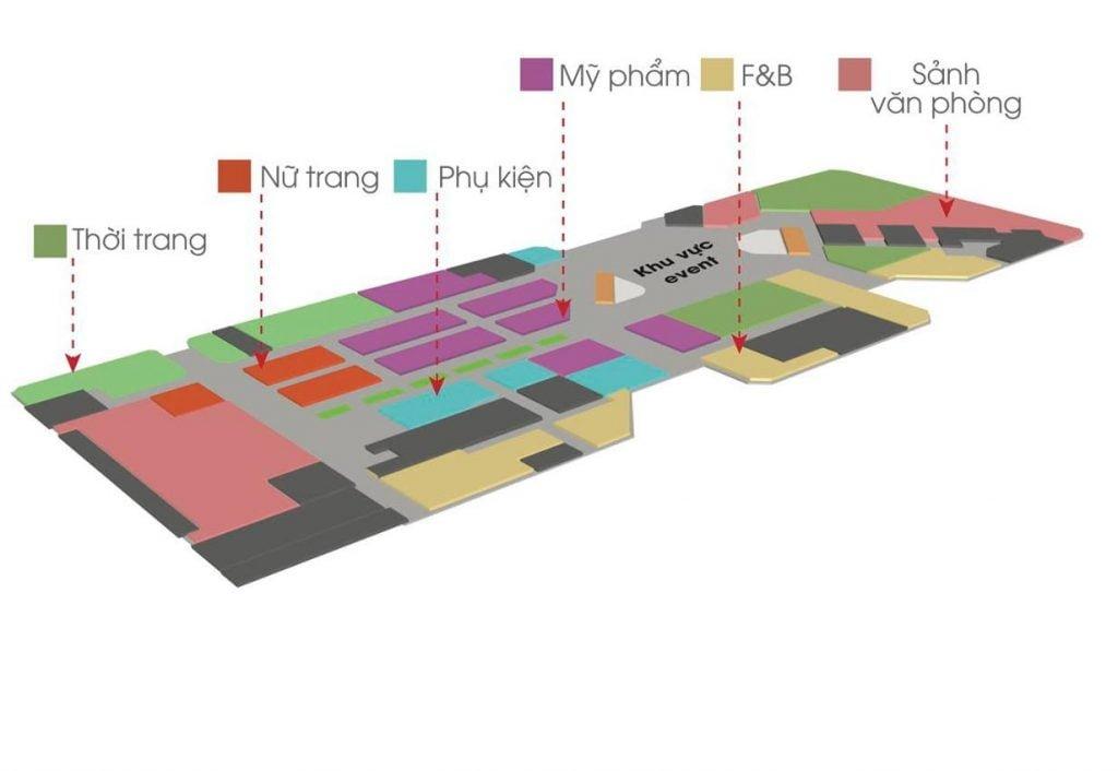 Tầng 1 của Socar Mall Thủ Thiêm