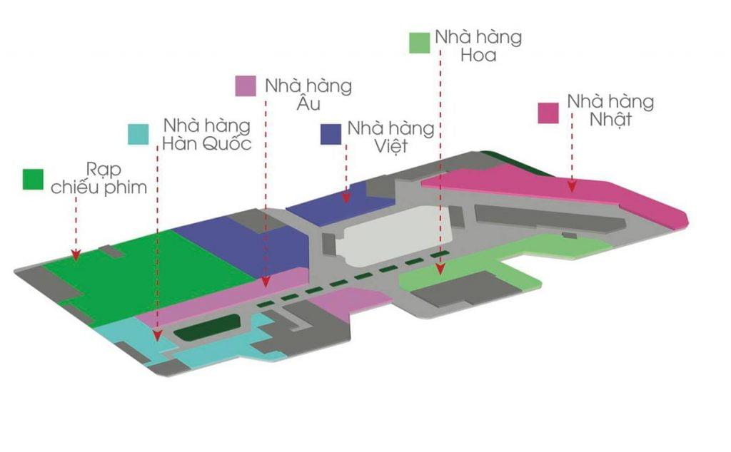 Tầng 4 trung tâm thương mại đầu tiên ở Thủ Thiêm
