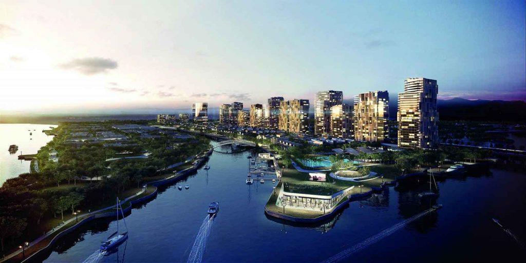 Vị trí dự án nằm mặt tiền Xa lộ Hà Nội và ngay chân cầu Rạch Chiếc