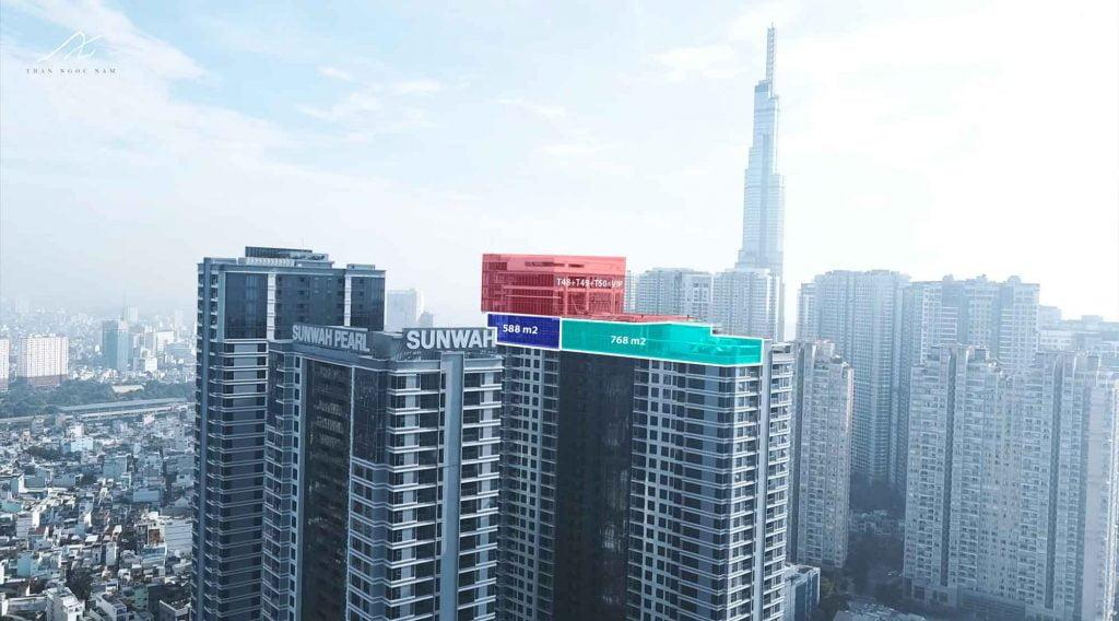 Penthouse Sunwah Pearl tầng 46 và 47 bán giá 13000 usd/m2