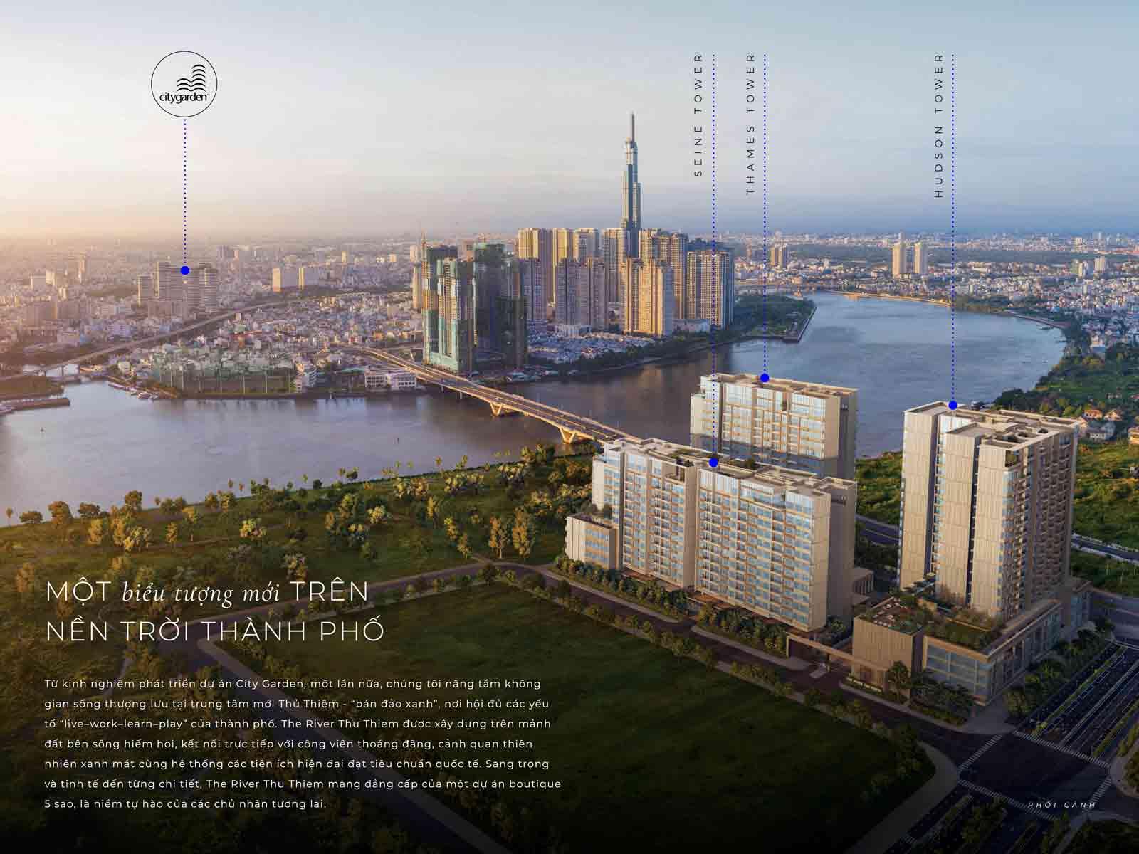 Hình phối cảnh dự án Thủ Thiêm River Park