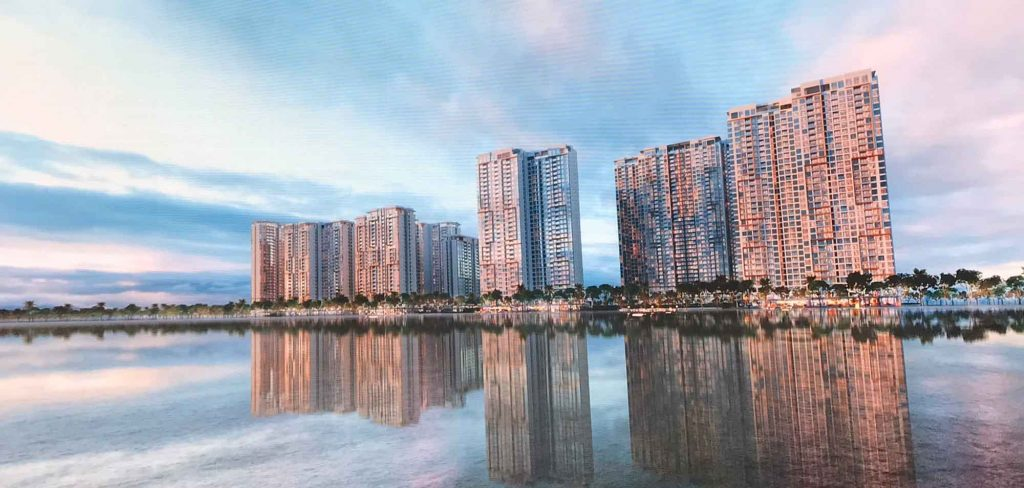 Hình phối cảnh khu căn hộ Masteri Quận 9 trên sông Đồng Nai