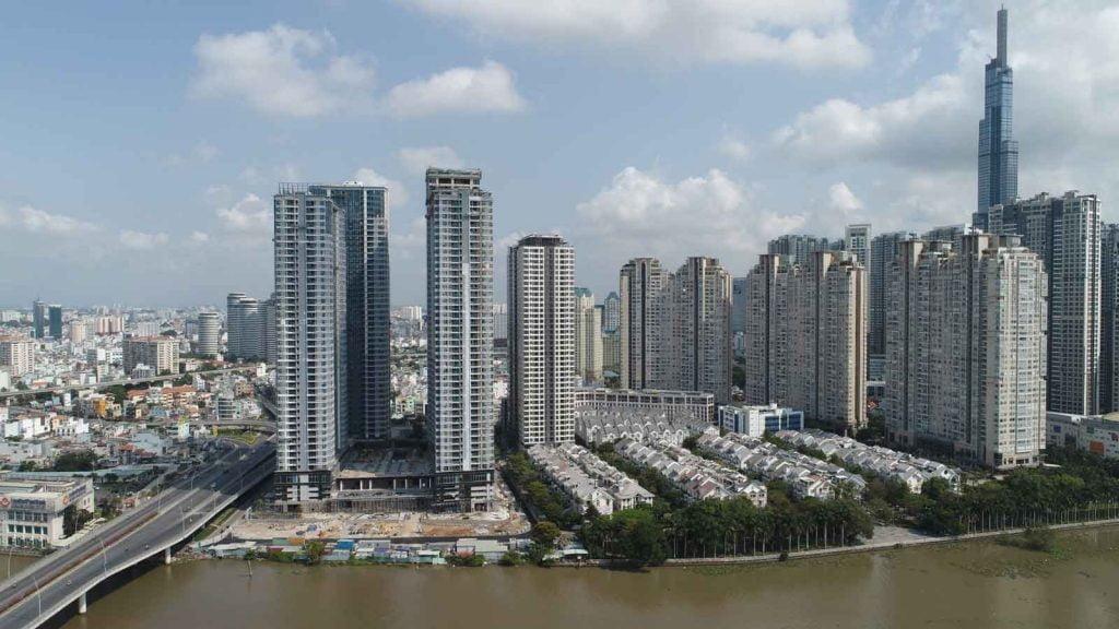 Hình thực tế dự án căn hộ Sunwah Pearl và Saigon Pearl