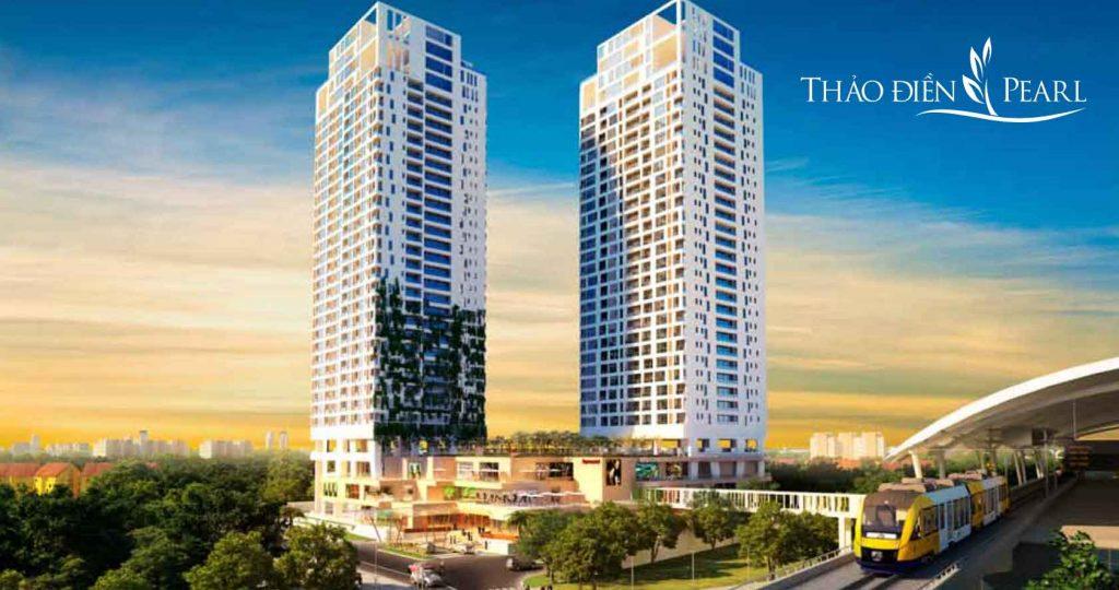 Hình phối cảnh dự án căn hộ Thảo Điền Pearl của tập đoàn SSG